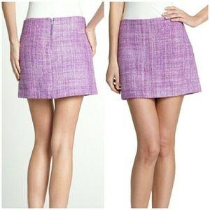 Alice + Olivia Purple Tweed Gianna Skirt